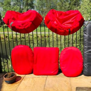 Dog Beds outside air drying after a Spring scrub