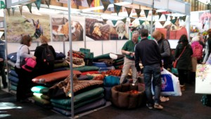 The Tuffies dog bed stand at Crufts 2015