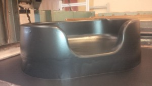 Brand new raised bed just off the forming machine.