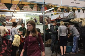 Our busy stand selling dog beds at Crufts