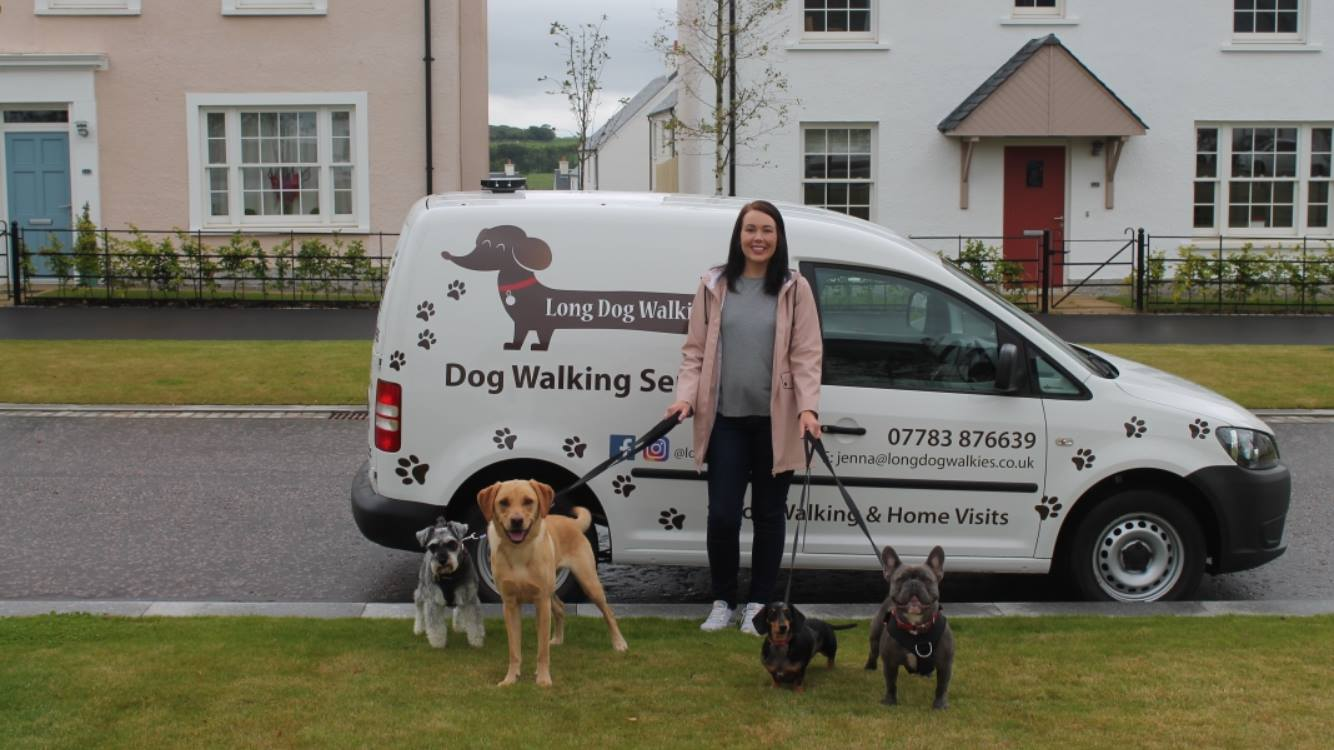 Jenna with her Van and Happy Customers