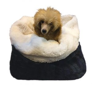 Tiny Breeds like miniature poodles LOVE the Mini Wolf Den.