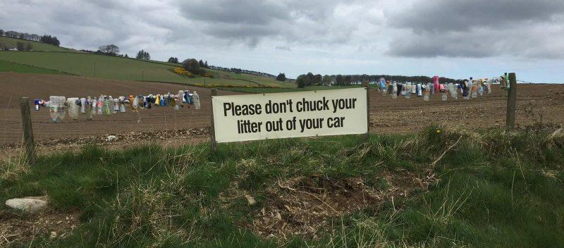 Countryside Litter Plea. Keep Scotland Clean. (Luise Janniche, Tuffies Founder)